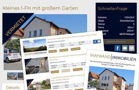 Immobilien Integration auf Webseite