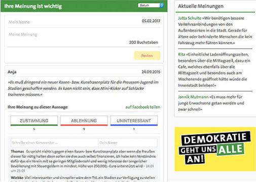 Wir Lieben Webdesign Homepage Für Parteien